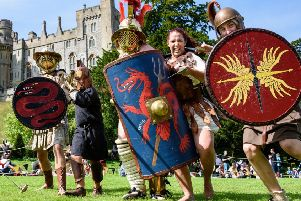 Arundel Castle is to host the 12,000 Years of Combat event. Picture: Julia Claxton