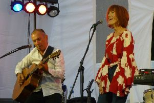 Carmelo Luggeri and Kiki Dee. All pictures by Lawrence Smith