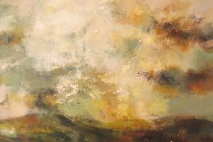 Andy Waite's oil on canvas For the Passing of Days. SUS-180820-110242001