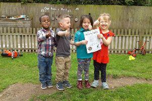 Thumbs up from the tiny tots