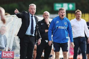 Pompey boss Kenny Jackett, left. Picture: Joe Pepler