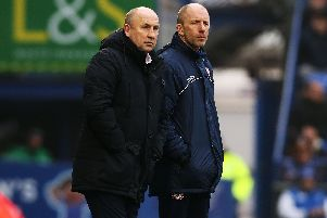 Boss John Coleman (left) has worked wonders for Accrington. Picture: Joe Pepler
