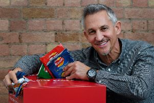 Gary Lineker supports the Walkers recycling scheme. Picture by Andrew Parsons / Parsons Media