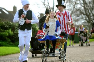 Join the Pagham Pram Race from 11am. The three-mile race is in its 65th year and takes place whatever the weather. It starts at the mill on Pagham Road, passing pubs along the way including The Bear, The Lamb and The Kings Beach, finishing at The Lamb car park.