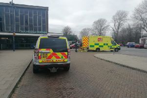 Two ambulance vehicles were called to Chichester railway station