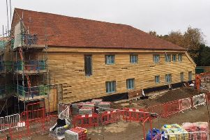 The new St Wilfrid's Hospice 'Sussex Barn' building