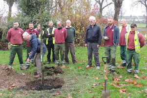 The team at the official planting