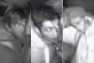 Police would like to identify these three people. Photo: Sussex Police
