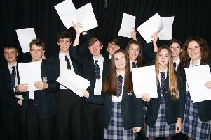Pupils with their mock results