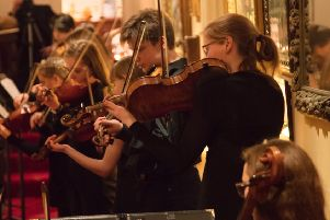 The String  Academy play on the balcony at Sedgwick House. Picture by Graham Franks Photography - www.grahamfrankspics.co.uk SUS-180130-122528001