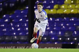 Leon Maloney in recnet action for Pompey / Picture by Joe Pepler