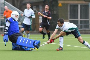 Action from Chichester's recent EH Championship tie with Cheltenham / Picture by YASPS