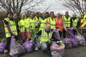 The team ready to tackle litter down Appledram Lane