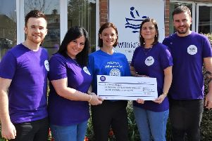 St Wilfrid's Hospice being awarded the grant on Friday