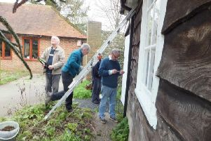 Chichester members get the clubhouse and grounds ready for the new season / Picture by Les Stewart