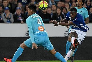 Strasbourg's French defender Lamine Kone (Photo by FREDERICK FLORIN/AFP/Getty Images)