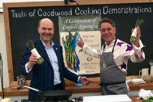 Cooking demonstrations at Goodwood