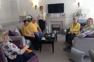 The event took place in the owners' lounge where the residents usually meet to catch-up
