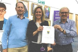 From left: Former Chichester High School for Boys headteacher, John Child; Current headteacher Joanne McKeown; and Colin Snook.''Picture contributed.
