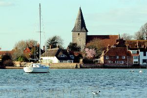 Bosham in the spring sunshine. Picture: Kate Shemilt ks190175-4