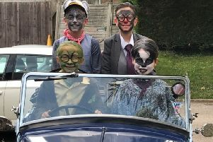 The main characters from The Wind in the Willows at Arundel CE Primary School