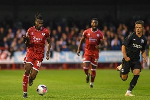Crawley Town's David Sesay. Picture by PW Sporting Photography
