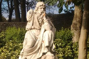 Coade stone statue in Priory Park, Chichester
