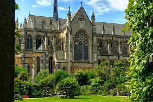 This view of Arundel Cathedral was taken from the Collector Earl's Garden at Arundel Castle