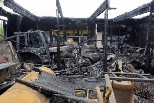 The devastating scene after the fire at the Prebendal premises / Picture by Kate Shemilt
