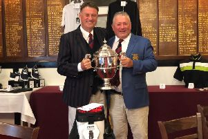 Willie Dunn receives his trophy