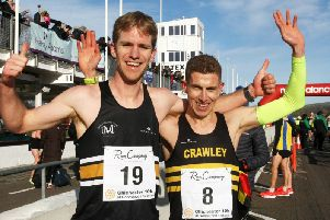 Last year's Chi Priory 10k top two / Picture by Derek Martin