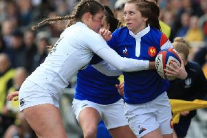 Jess Breach pictured in action last year against France / Picture: Getty Images