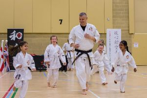 Martin Hadden, who has 15 years worth of experience in karate and has been teaching for five of those, said he is passing on knowledge to the next generation. Photo: Webster Images
