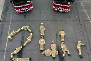The newest firefighters in West Sussex have taken on a 24-hour endurance test in aid of charity. Photo: West Sussex Fire and Rescue Service