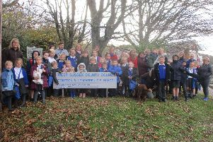 Parents and children at Compton and Up Marden CE Primary School, which was one of five small primary schoolsidentified as potentially vulnerableby West Sussex County Council earlier this year