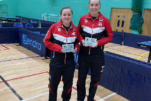 Lois Peake, left, with Evie Collier