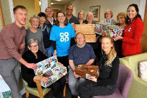Community project with Pagham Co-op funeralcare to bring together special Memory Boxes for local residents containing fun vintage everyday items and memorabilia from Bognor Regis. Pic Steve Robards SR27111901 PNL-191127-203012001