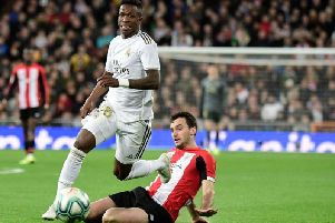 Real Madrid's Vincius Jnior has been linked to Manchester United