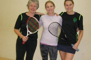 Three members of the Chichester team
