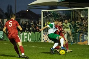 Bognor took on Worthing without Joe Cook - and struggled at the back / Picture by Tommy McMillan