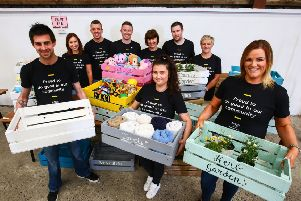 M&S staff help out at Coleraine Vineyard.