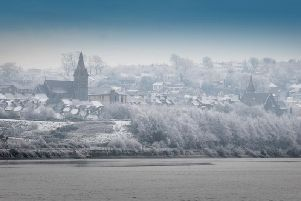 Derry's Waterside covered in a blanket of ice and snow on Christmas morning in 2009. (2712Sl11) Photo:Stephen Latimer