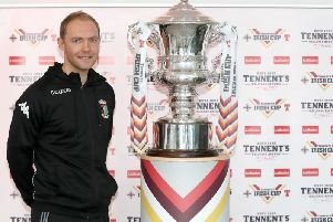 Glentoran's Ross Redman at the Tennent's Irish Cup fifth-round draw. Pic by PressEye Ltd.