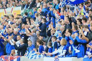 Coleraine's supporters in full voice