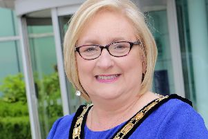 Brenda Chivers was elected mayor of Causeway Coast and Glens Borough Council on Monday