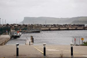 The harbour at Ballycastle.