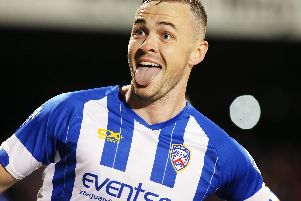 Coleraine's Darren McCauley netted a first half brace at the Ryan McBride Brandywell Stadium.