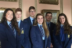 Students from Loreto College who won the Movie/Performance award at the Northern Ireland Anti-Bullying Forum.