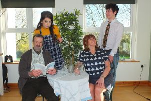 The Ballymoney Literary and Debating Society's cast of Relatively Speaking.