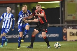 Coleraine take on Crusaders at The Oval. Credit �INPHO/Stephen Hamilton